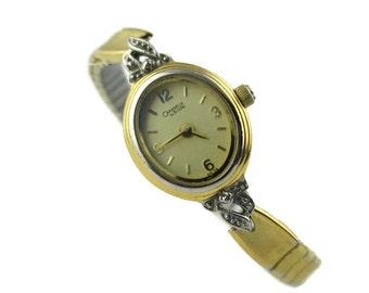 Caravelle By Bulova  Rhodium Accented Gold Tone Bracelet S.Epson Quartz Watch