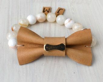 Personalized bracelet/ Personalized jewelry/ Personalized leather bracelet/Letter bracelet.