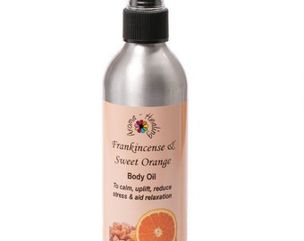 Frankincense and Orange Massage Oil | Oils For Stress and Relaxation | Natural Skincare | Luxury Spa Oil
