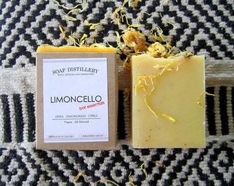 Limoncello Cold Process Soap Small Batch Lemongrass Citrus Vegan All Natural Bar Essentials