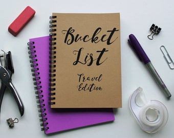 TRAVEL EDITION - Bucket List -   5 x 7 journal
