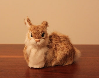 Small Rabbit (made with recycled rabbit fur)