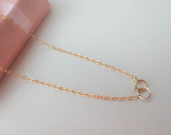 14K GOLD FILLED Link Chain Necklace-gold filled flat cable chain Necklace-Finished Chain-Everyday Necklacec-Perfect Gift for best friend.