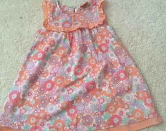 Rockabilly Flower Power Little Girls Party Dress size 4