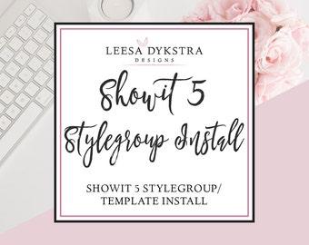 Showit 5 Styleboard Installation - Showit Template Installation - Photography Website Design - Showit Website