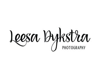Premade Photography Logo and Watermark Design, Premade Typography Logo, Business Branding, Small Business Watermark Logo - 193