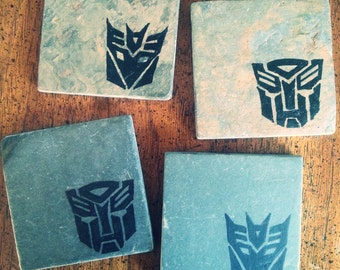 Transformers Autobots & Decepticons Coasters - Set of 4