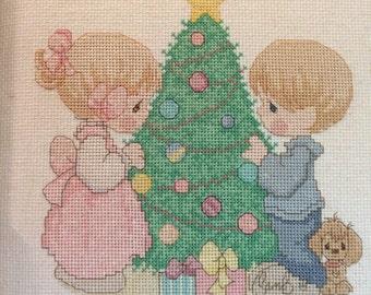 Cross stitch precious moments christmas