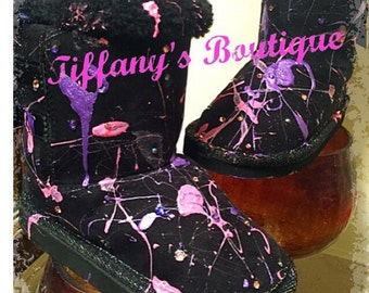Splatter Painted Boots