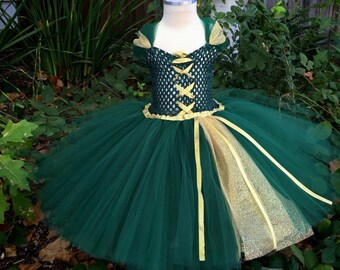 Merida Inspired Tutu Dress, Brave Tutu Dress, Merida Tutu, Merida Costume, Princess Tutu, Merida Dress, Merida Cosplay,
