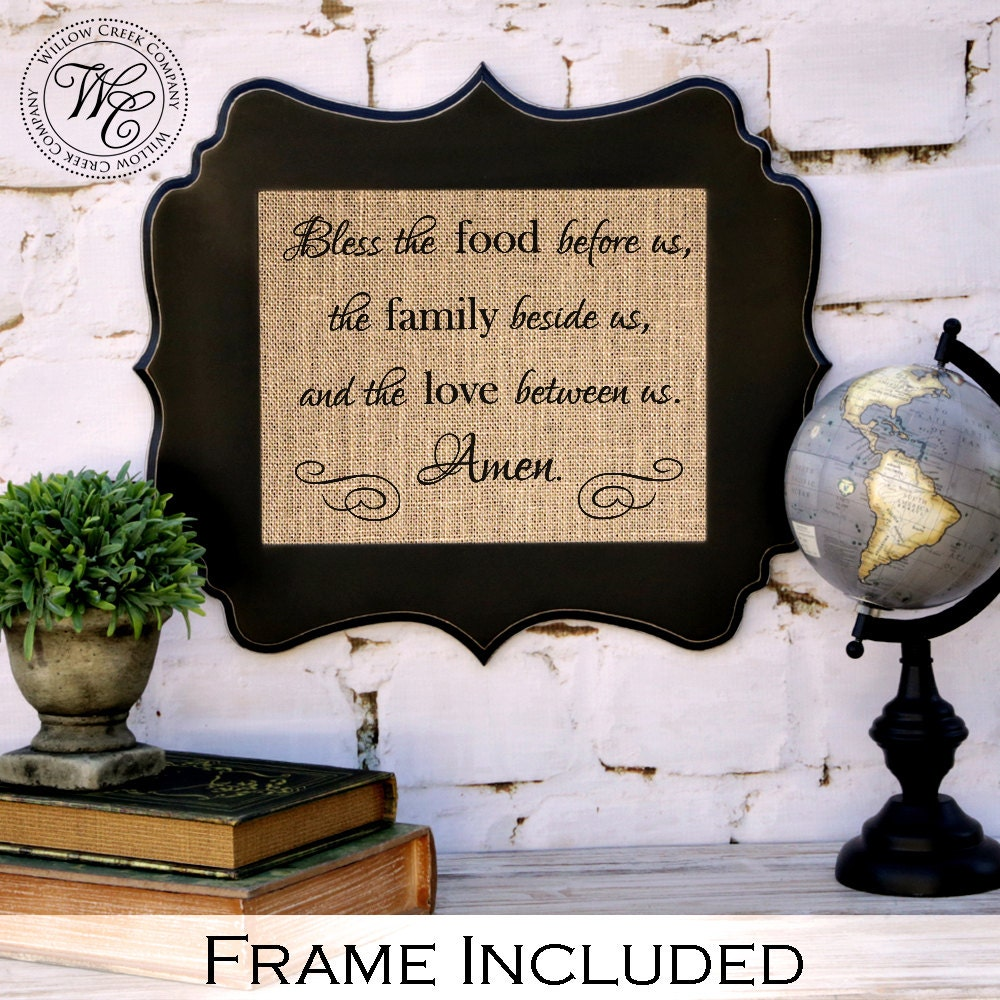 Bless the food before us prayer poem kitchen wall decor for Plaque decorative cuisine