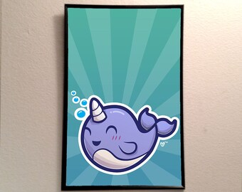 Narwhal 11x17 Poster Print