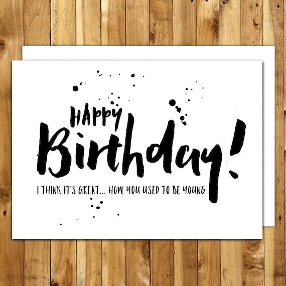funny birthday card birthday card for him birthday card, Birthday card