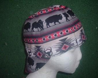 Buffalo  Welding Cap in  Gray/Red