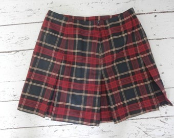 Vintage, Plaid , Mini Skirt, Junior's, Size 11