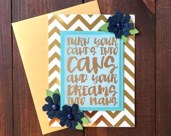 Just Because Card, Just Because, Friend Card, Friend, Encouragement, Gold Navy Card, Gold Chevron, Chevron Card, Gold Chevron Card, Navy