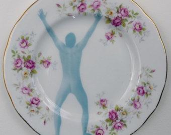 Olaf - Altered Vintage Plate
