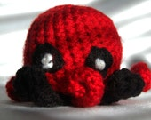 Deadpool octopus amigurumi