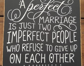 Marriage Wooden Sign, Newlywed Sign, Wedding Sign, Marriage Sign, Perfect Marriage Sign, Customized Marriage Sign,