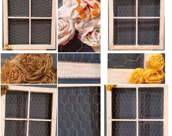 chicken wire window frames