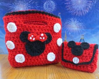 Free Crochet Mickey Mouse Purse Pattern : Minnie mouse crochet pattern Etsy