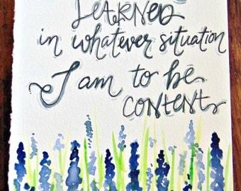 Inspirational Art: Contentment