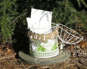 Mini Wedding Cards Banner, Heart Mini Cards Banner, Rustic Card Box Banner, Kraft Rustic Wedding Mini Banner