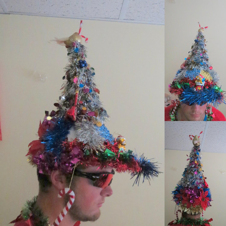 Christmas Tree Hats: OOAK Christmas Tree Tacky Ugly Christmas By Tackyuglychristmas