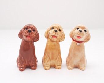 Poodle, Figurine, Ceramic Dog, Miniature Sculpture