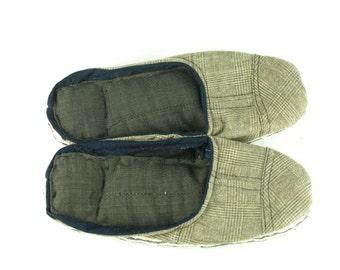 Tweed & Cotton Scrap Slippers Portuguese Chinelos de Trapos size EU 36-38