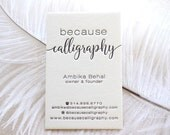 Letterpress Business Cards, Calling Card, Custom, Calligraphy, Photographer, Event Planner, Logo, Script, Simple, Affordable, black, gold