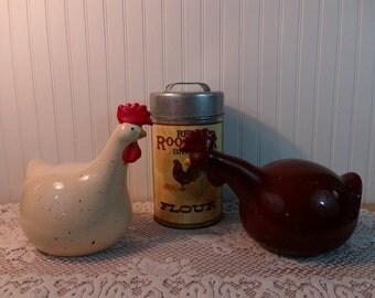 Vintage Ceramic Chickens/Hens Kitchen Decor