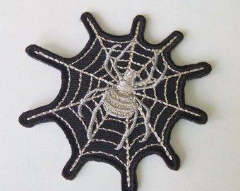 """Spider Web with Spider Iron on Patch (2 5/8"""" x 2 5/8"""")"""