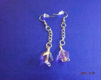 Pink Jesse James Crystal Bead Earings