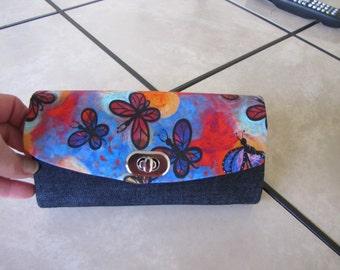 Black Denim wallet