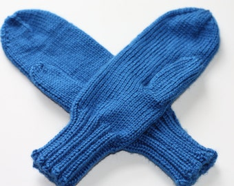 Royal Blue Mittens for Adults - Blue Ladies Mittens - Blue Knit Mittens - Blue Mittens - Royal Blue Accessories