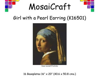 MosaiCraft Pixel Craft Mosaic Art Kit 'Girl with a Pearl Earring' (Like Mini Mosaic and Paint by Numbers)