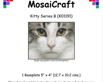 MosaiCraft Pixel Craft Mosaic Art Kit 'Kitty Series B' (Like Mini Mosaic and Paint by Numbers)