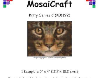 MosaiCraft Pixel Craft Mosaic Art Kit 'Kitty Series C' (Like Mini Mosaic and Paint by Numbers)