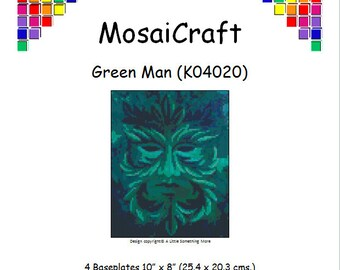 MosaiCraft Pixel Craft Mosaic Art Kit 'Green Man' (Like Mini Mosaic and Paint by Numbers)