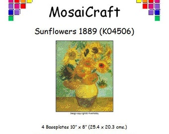MosaiCraft Pixel Craft Mosaic Art Kit 'Sunflowers 1889' (Like Mini Mosaic and Paint by Numbers)