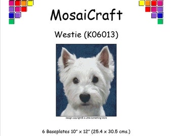 MosaiCraft Pixel Craft Mosaic Art Kit 'Westie' (Like Mini Mosaic and Paint by Numbers)
