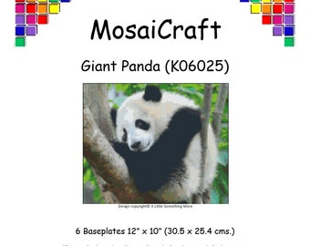 MosaiCraft Pixel Craft Mosaic Art Kit 'Giant Panda' (Like Mini Mosaic and Paint by Numbers)