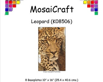 MosaiCraft Pixel Craft Mosaic Art Kit 'Leopard' (Like Mini Mosaic and Paint by Numbers)