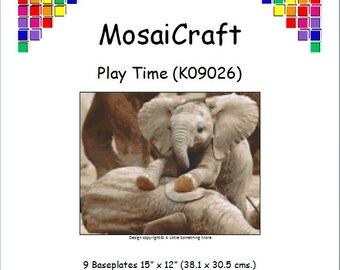 MosaiCraft Pixel Craft Mosaic Art Kit 'Play Time' (Like Mini Mosaic and Paint by Numbers)