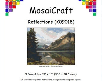 MosaiCraft Pixel Craft Mosaic Art Kit 'Reflections' (Like Mini Mosaic and Paint by Numbers)