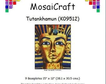MosaiCraft Pixel Craft Mosaic Art Kit 'Tutankhamun' (Like Mini Mosaic and Paint by Numbers)