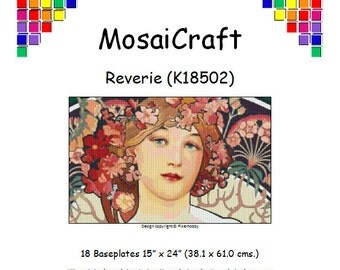 MosaiCraft Pixel Craft Mosaic Art Kit 'Reverie' (Like Mini Mosaic and Paint by Numbers)