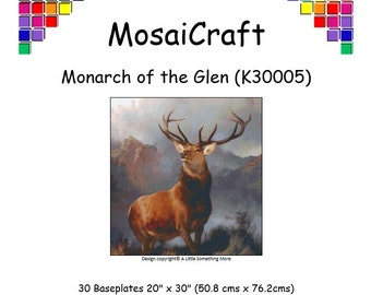 MosaiCraft Pixel Craft Mosaic Art Kit 'Monarch Of The Glen' (Like Mini Mosaic and Paint by Numbers)