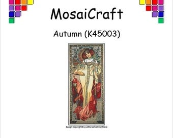 MosaiCraft Pixel Craft Mosaic Art Kit 'Autumn' (Like Mini Mosaic and Paint by Numbers)
